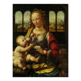 Poster Madonna de l'oeillet par Leonardo da Vinci