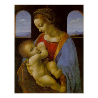 Poster Madonna Litta par Leonardo da Vinci