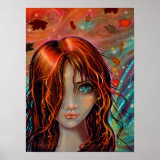 Poster Magie de l'art féerique 12 x 16 d'imaginaire