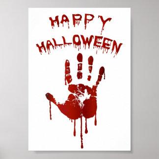 Poster Main sanglante de Halloween