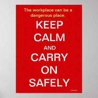 Poster Maintenez calme et continuez le signe de santé et