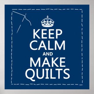 Poster Maintenez calme et faites les édredons (toutes les
