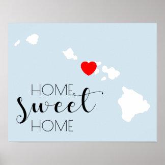 Poster Maison douce à la maison | Hawaï