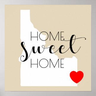 Poster Maison douce à la maison   Idaho