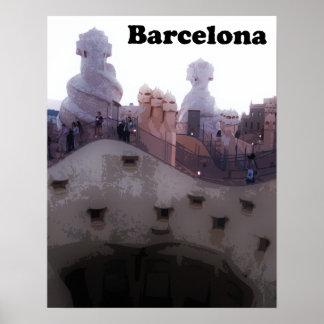 """Poster Maison Milà """"La Pedrera"""" Barcelone de Gaudi"""