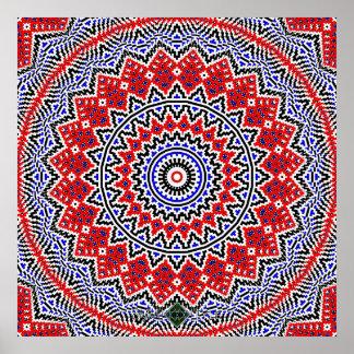 Poster Mandala 2 de mosaïque