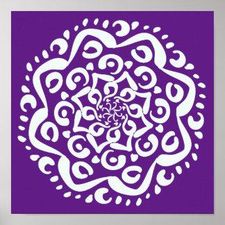 Poster Mandala d'aubergine
