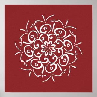 Poster Mandala de canneberge