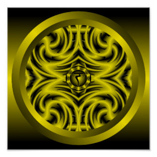 Poster Mandala de Chakra de plexus solaire