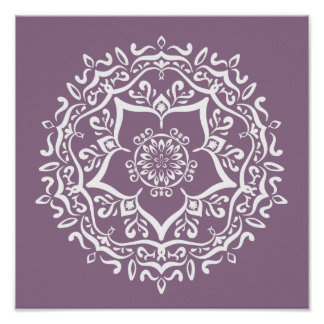 Poster Mandala de glycines