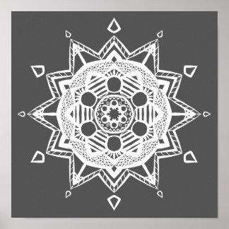 Poster Mandala de lamantin