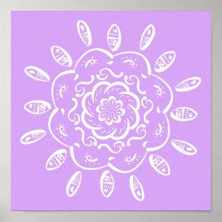 Poster Mandala de lavande
