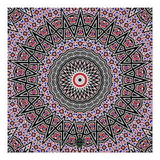 Poster Mandala de mosaïque