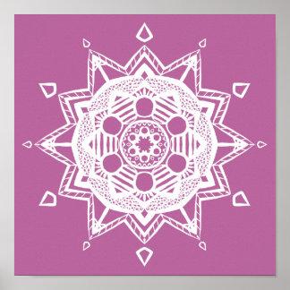 Poster Mandala de trèfle