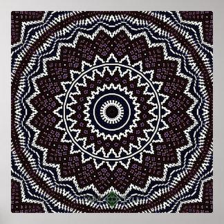 Poster Mandala inverti 2 de mosaïque