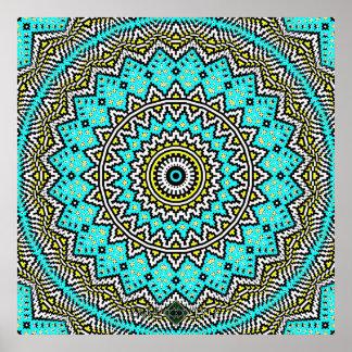 Poster Mandala inverti de mosaïque