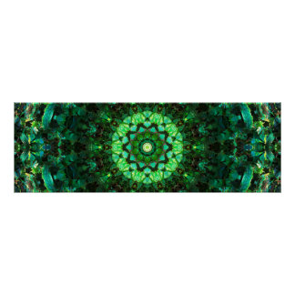 Poster Mandala vert Mosaïc
