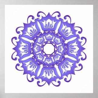 Poster Mandala. violet floral