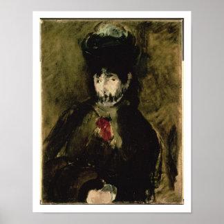 Poster Manet | Berthe Morisot portant un voile, 1872