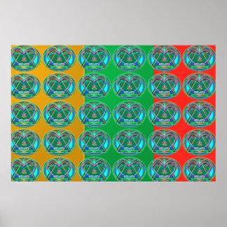 Poster Manie de couleur de MERVEILLE : AMOUREUX