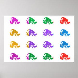 Poster Manie de couleur de MERVEILLE : BIJOUX