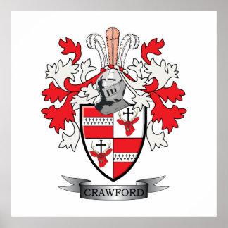 Poster Manteau de crête de famille de Crawford des bras