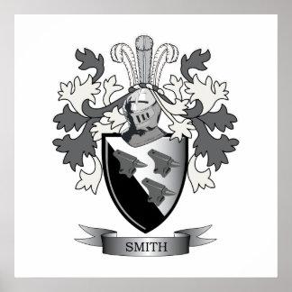 Poster Manteau de crête de famille de Smith des bras