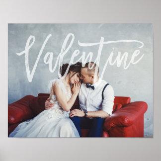 Poster Manuscrit romantique   Valentine avec la photo