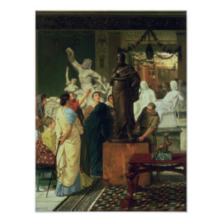 Poster Marchand d'Alma-Tadema   en statues