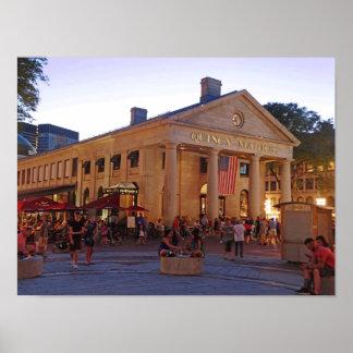 Poster Marché historique Boston du centre de Quincy