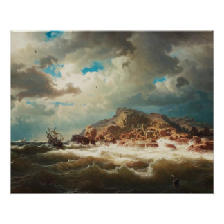 Poster Marcus Larson - bateau par la côte