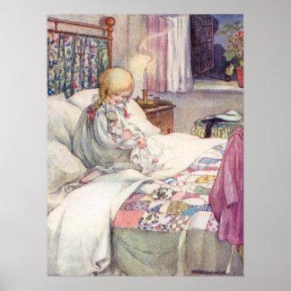Poster Marguerite mon chariot par Anne Anderson
