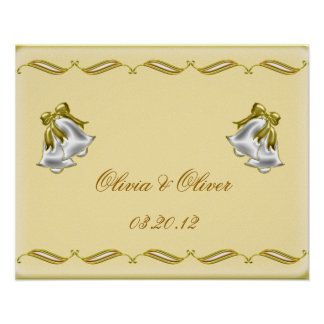 Poster Mariage d'or