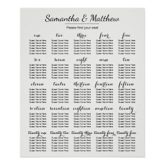 Poster Mariage simple et chic - plus de diagramme de