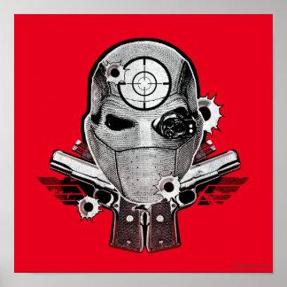 Poster Masque du peloton | Deadshot de suicide et art de