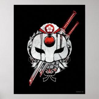 Poster Masque du peloton | Katana de suicide et art de