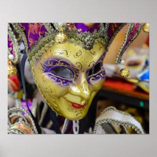 Poster Masques de carnaval à Venise Italie
