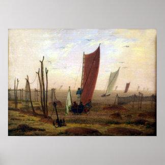 Poster Matin de Caspar David Friedrich
