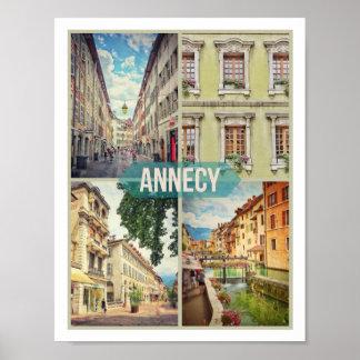 """Poster Matte de l'affiche d'Annecy (28cm x 21.6cm/11"""" x"""