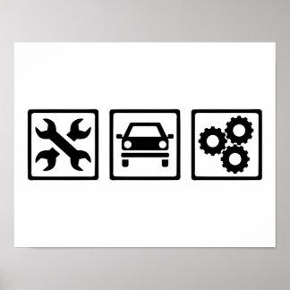 Poster Mécanicien de moteur