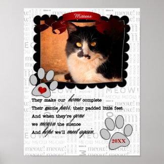 Poster Mémorial sentimental d'animal familier avec le nom