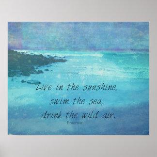 Poster Mer Emerson de citation de soleil inspiré