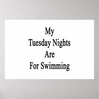 Poster Mes mardi soirs sont pour la natation
