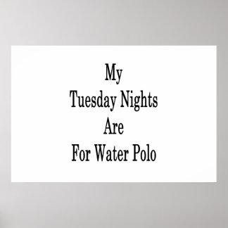 Poster Mes mardi soirs sont pour le polo d'eau