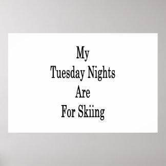 Poster Mes mardi soirs sont pour le ski
