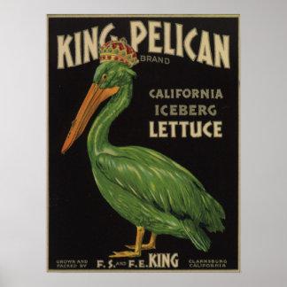 Poster met de Vintage Druk van het Etiket van het