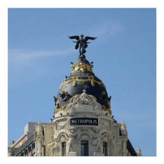 Poster Métropole, Madrid