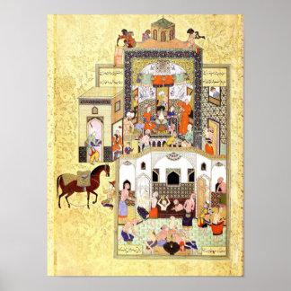 Poster Miniature persane : Le derviche dans le hammam