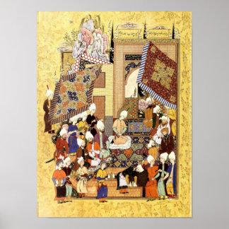 Poster Miniature persane : Mariage de Yusuf et de