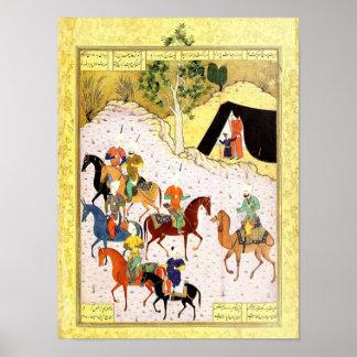 Poster Miniature persane : Mon hospitalité n'est pas en